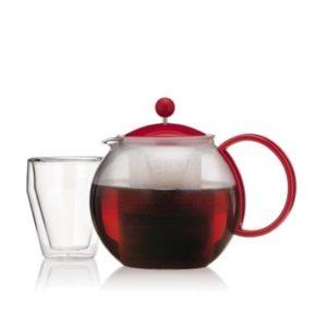 Veggie Meals - Bodum Assam Teapot 1.0l Red