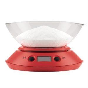 Veggie Meals - Bodum Bistro Kitchen Scales Red