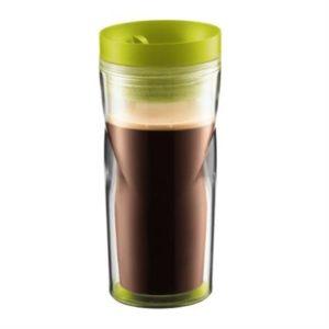 Veggie Meals - Bodum Plastic Travel Mug 350ml Lime Green