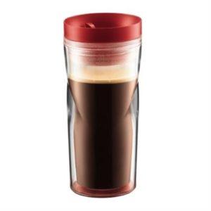 Veggie Meals - Bodum Plastic Travel Mug 350ml Red