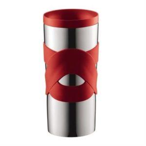 Veggie Meals - Bodum Stainless Steel Travel Mug 350ml Red