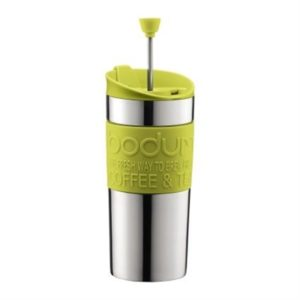 Veggie Meals - Bodum Stainless Steel Travel Press Set 350ml Lime Green with bonus lid