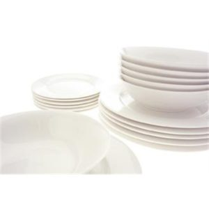 Veggie Meals - Maxwell & Williams White Basics European Dining Set 18piece