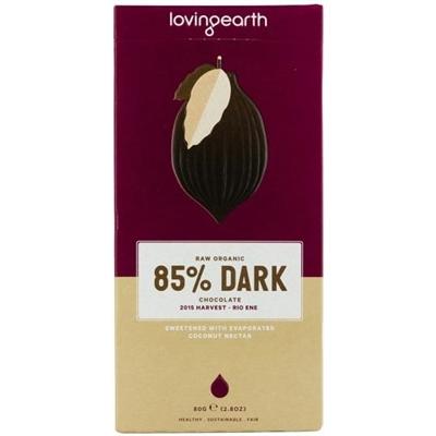 Loving Earth Raw Organic 85% Dark Chocolate 80g