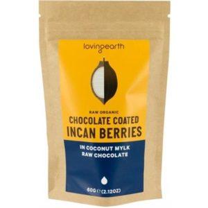 Loving Earth Chocolate Coated Incan Berries In Coconut Mylk Chocolate 60g