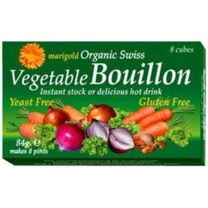 Marigold Swiss Vege BouillonCubesYeastFree G/F (Green)84g