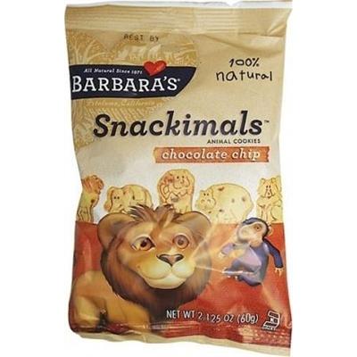 Barbara's Snackimals Chocolate Chip Cookies 60g
