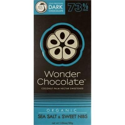 Big Tree Farms Wonder Chocolate Org Raw Dark Choc Sea Salt&Sweet Nibs 73% 30g