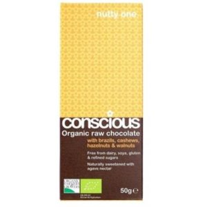 Conscious Organic Raw Chocolate The Nutty One 50gm