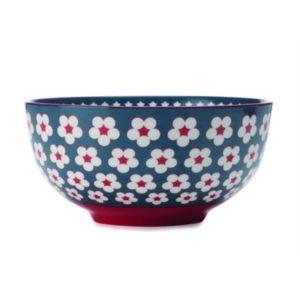 Veggie Meals - Christopher Vine Cotton Bud Bowl 18cm Dark Blue