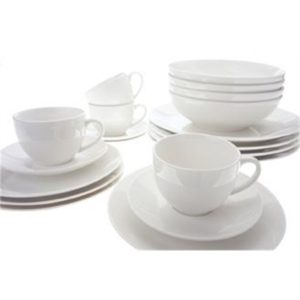 Veggie Meals - Maxwell & Williams White Basics Coupe Dinner Set 20 Piece