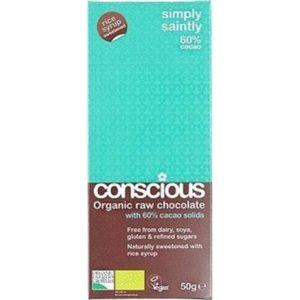 Conscious Organic Raw Chocolate Rice Syrup Simply Saintly 50gm