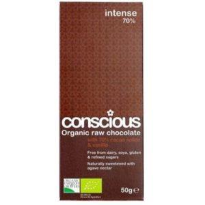 Conscious Organic Raw Chocolate Intense 70% 50gm