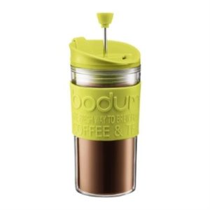 Veggie Meals - Bodum Travel Press with Free Extra Lid 350ml Lime Green