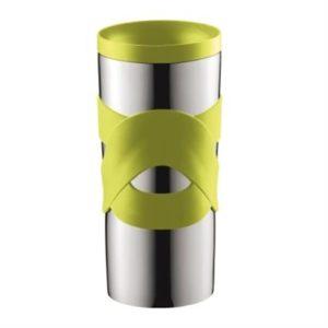 Veggie Meals - Bodum Stainless Steel Travel Mug 350ml Lime Green