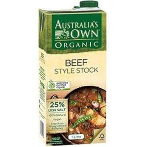 Australia's Own Organic Liquid Beef Stock G/F 1Lt