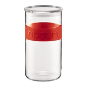 Veggie Meals - BODUM Presso Storage Jar Red 2.0l