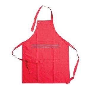 Veggie Meals - Salt & Pepper Chef Apron 86 x 64cm RED