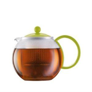 Veggie Meals - Bodum Assam Teapot 1.0l Lime Green
