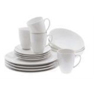 Veggie Meals - Maxwell & Williams White Basics Coupe Dinner Set 16 Piece