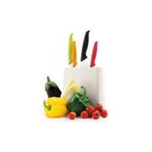 Veggie Meals - BODUM Bistro Knife Block Off White