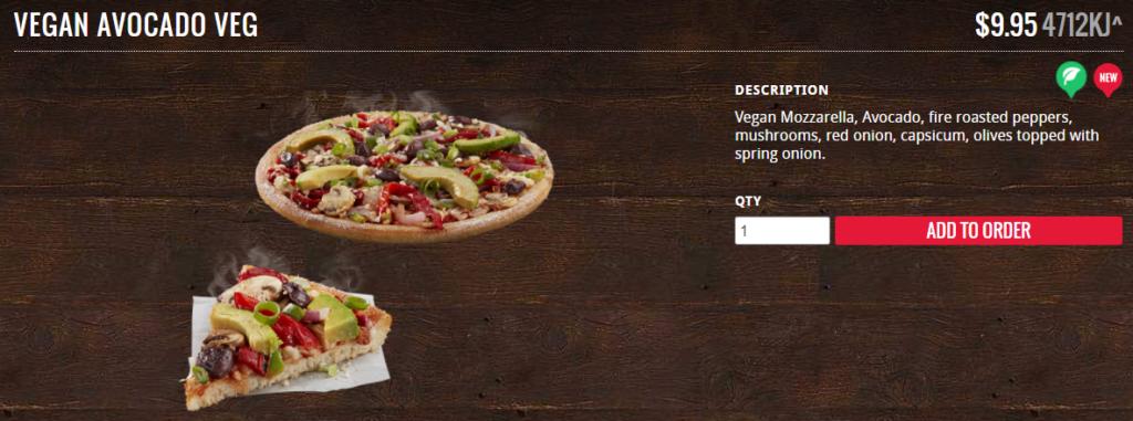 Veggie Meals - Vegan Pizza - Avacado