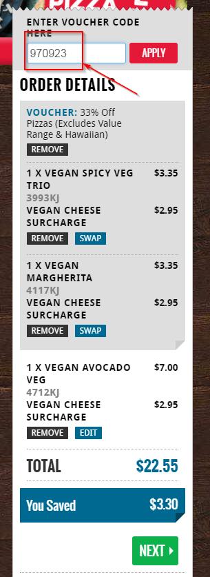 Veggie Meals - Vegan Pizza - Discount Order