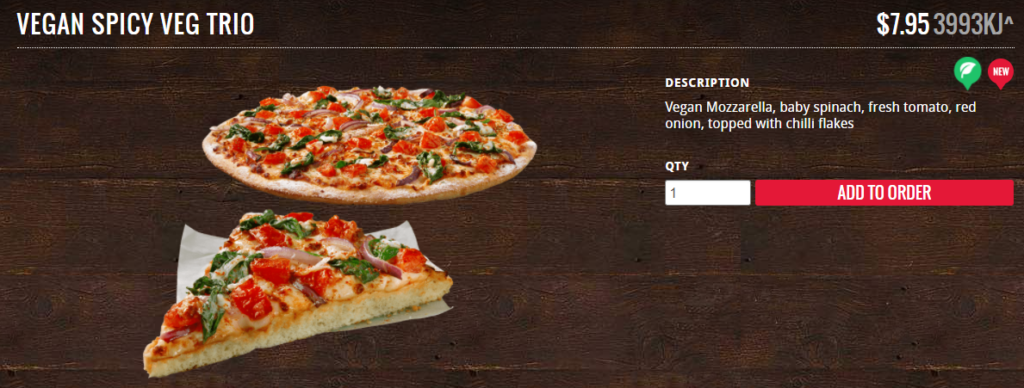 Veggie Meals - Vegan Pizza - Spicy