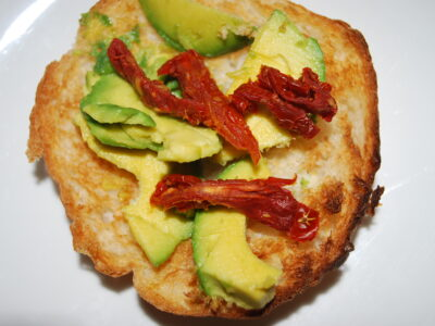 Avocado with Sundried Tomatoes Toastie