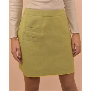 Veggie Meals - Acid Lime Surplus Cotton Sandie Skirt - L
