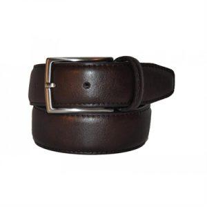 Veggie Meals - Dark Brown Vegan Leather Belt - S - 90cm