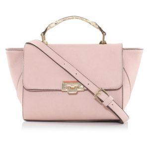 Veggie Meals - Pink Vegan Leather Dunlin Cross-Body Bag