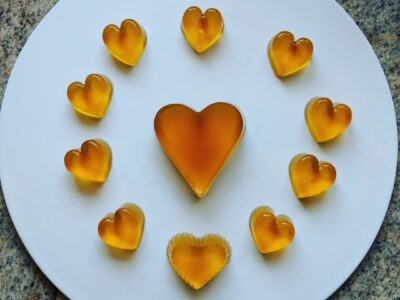 Vegan Heart Shaped Jelly – Green Tea Flavor