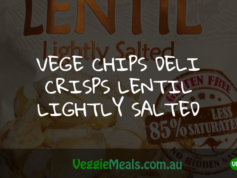 VEGE CHIPS DELI CRISPS LENTIL LIGHTLY SALTED