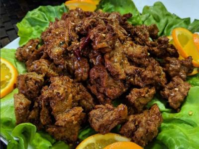 Vegetarian Spicy Lemon Chicken