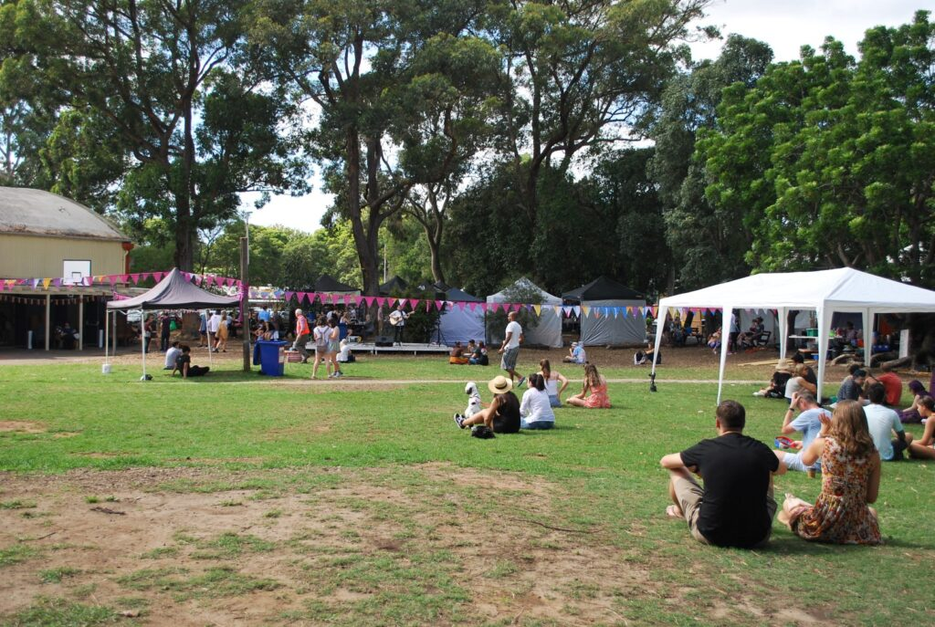 Veggie Meals - Sydney Vegan Markets Chill Out area live music