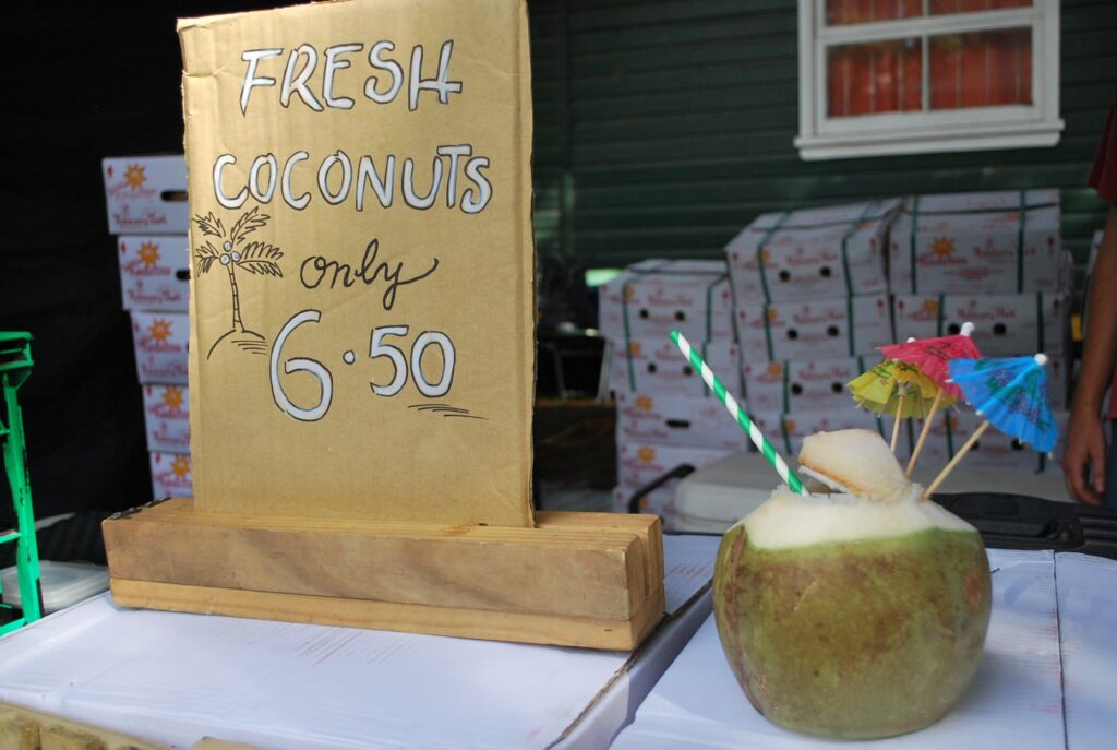 Veggie Meals - Sydney Vegan Markets Fresh Coconuts