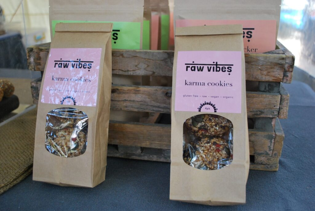 Veggie Meals - Sydney Vegan Markets raw vibes karma cookies