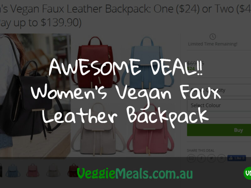awesome deal womens vegan faux leather backpack