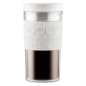 Veggie Meals - Bodum Plastic Travel Mug 350ml Off White