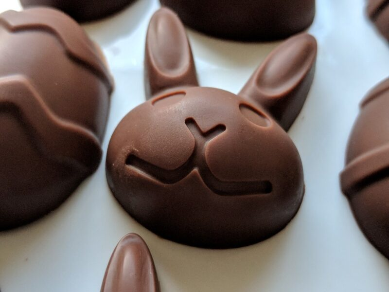 Vegan Chocolate Egg and Bunny
