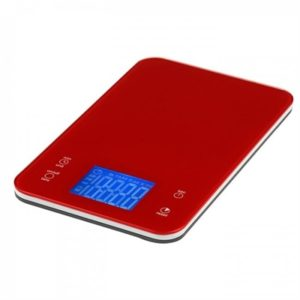 Veggie Meals - Accura Aquarius 2 Electronic Kitchen Scale & Timer 5kg/1gm/Ml RED