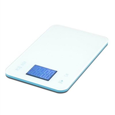 Veggie Meals - Accura Aquarius 2 Electronic Kitchen Scale & Timer 5kg/1gm/Ml White