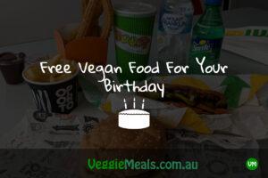 Veggie Meals Free Vegan Food For Your Birthday Header