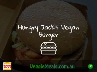 HUNGRY JACKS VEGAN BURGER
