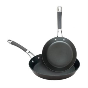 Veggie Meals - Anolon Endurance+ 20/26cm Open French Skillet Twin Pack