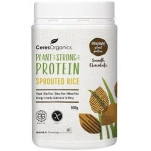 Ceres Organics Bio Sprouted Rice Protein Smooth Chocolate 500g