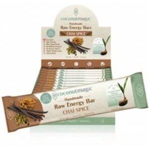 Coconut Magic Raw Energy Bars Chai Spice G/F 12x45g