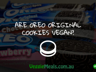 ARE OREO ORIGINAL COOKIES VEGAN?