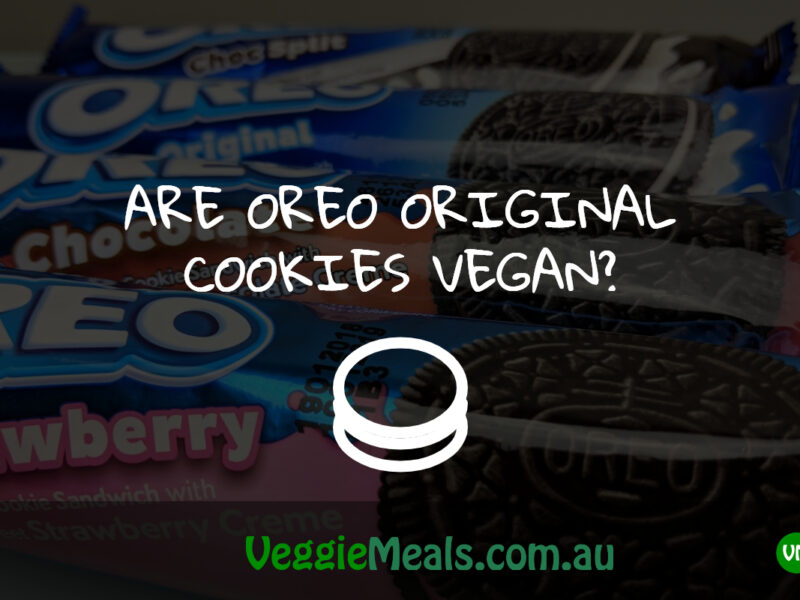 ARE OREO ORIGINAL COOKIES VEGAN